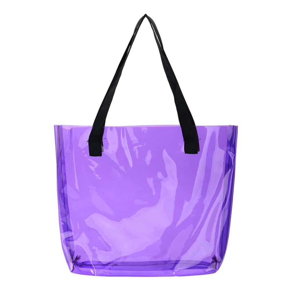 Clear Tote Bag PVC Transparant Shopping Bag Shoulder Handbag Women Tote Travel Bags Environmentally Storage Bags Large CapacityClear Tote Bag PVC Transparant Shopping Bag Shoulder Handbag Women Tote Travel Bags Environmentally Storage Bags Large Capacity