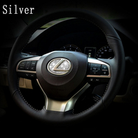 DSYCAR Zinc Alloy Steering Wheel Decoration Sticker Logo Emblem Badge Car Styling Modification For Lexus Es