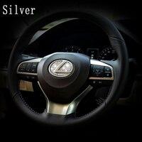 * Dsycar亜鉛合金ステアリングホイール装飾ステッカーロゴエンブレムバッジ車のスタイリング修正用レクサスes/es200 nx/nx200 rx