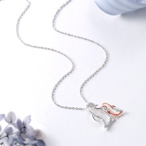 Image 3 - 925 Sterling Silver Penguin Family Pendant Necklace Mother Loves Children Contains Sparkling Zirconia Female Fine Jewelry Gift