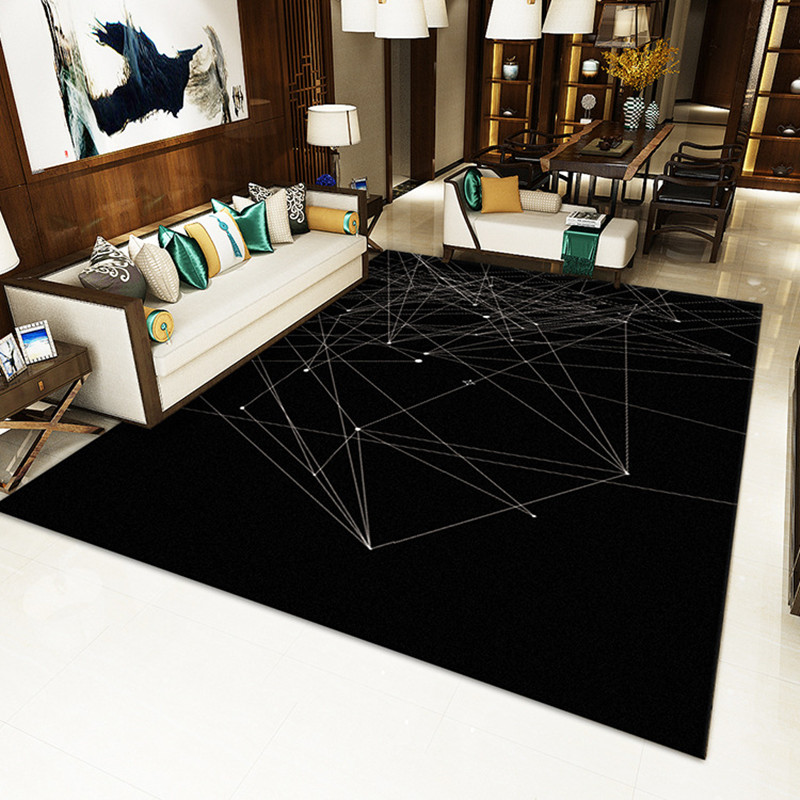 Nordic geometric trend simple stripe carpet Modern rectangle Living room coffee table sofa Floor Mat rug Bedroom bedside tapete in Carpet from Home Garden