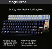 Kekuatan Sihir Smart 68 Kunci Kabel USB Backlit Antighosting Mechanical Gaming Keyboard Kailh/Gateron Switch(China)