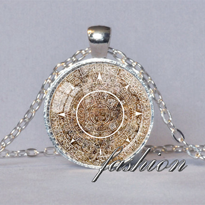 Mayan calendar pendant mayan calendar jewelry aztec calendar mayan mayan calendar pendant mayan calendar jewelry aztec calendar mayan pendant brown white astronomy jewelry archaeology jewelry in pendant necklaces from aloadofball Image collections