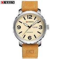 50pcs Lot Luxury Brand CURREN Men Military Sports Watches Men 39 S Quartz Date Clock Man