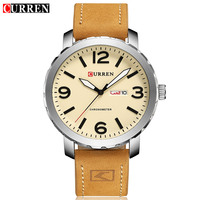 50pcs Lot Luxury Brand CURREN Men Military Sports Watches Men 39 S Quartz Date Clock Man