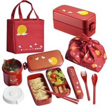 Двухэтажный японский bento box микроволновая печь Нагревательный набор пластиковой кухонной посуды 28