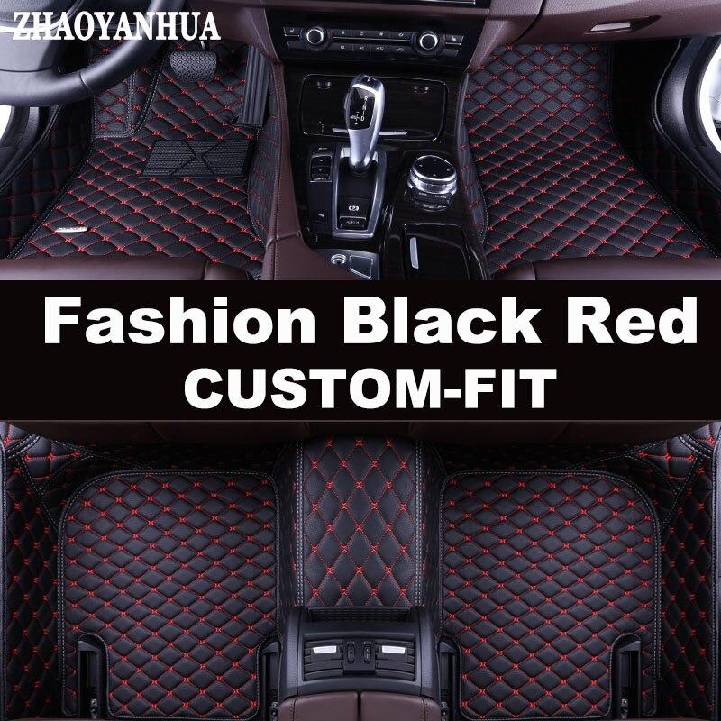 ZHAOYANHUA Custom fit auto fußmatten für BMW 3 serie E46 E90 E91 E92 E93 F30 F31 F34 GT 5D auto styling teppich boden liners