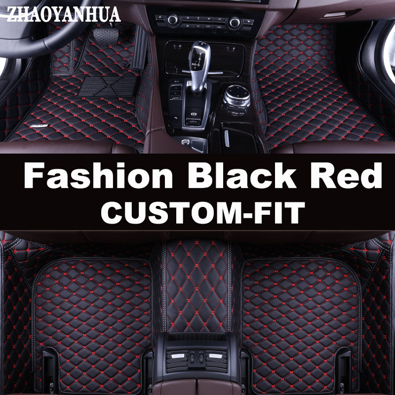 ZHAOYANHUA Custom fit car floor mats for BMW 3 series E46 E90 E91 E92 E93 F30 F31 F34 GT 5D car styling carpet floor liners