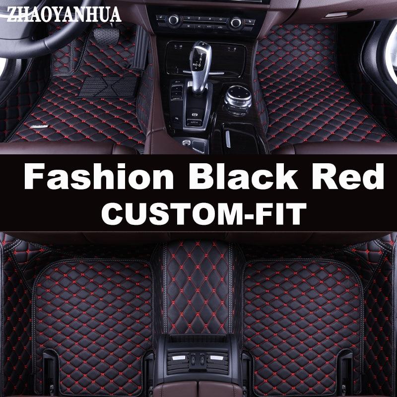Zhaoyanhua Custom fit автомобильные коврики для BMW 3 серии E46 E90 E91 E92 E93 F30 F31 F34 GT 5D Тюнинг автомобилей коврики с облицовочными вставками