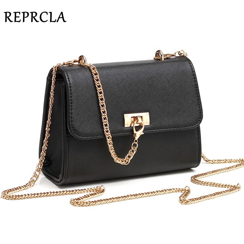 REPRCLA New Chain Strap Women Bags Fashion Messenger Shoulder Bag PU Leather Ladies Handbags Crossbody Bags For Women