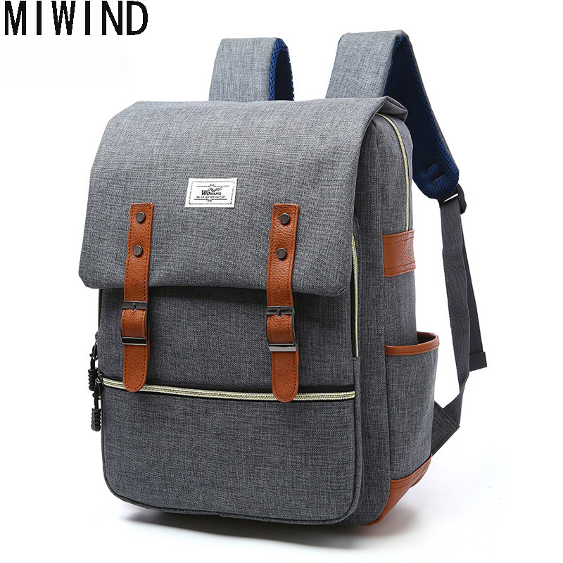 Retro Men Male Canvas Backpacks For Teenage Boys School Bags Casual Rucksacks Large Capacity Travel Bag Laptop Bags Women Bags 1 men backpack student school bag for teenager boys large capacity trip backpacks laptop backpack for 15 inches mochila masculina