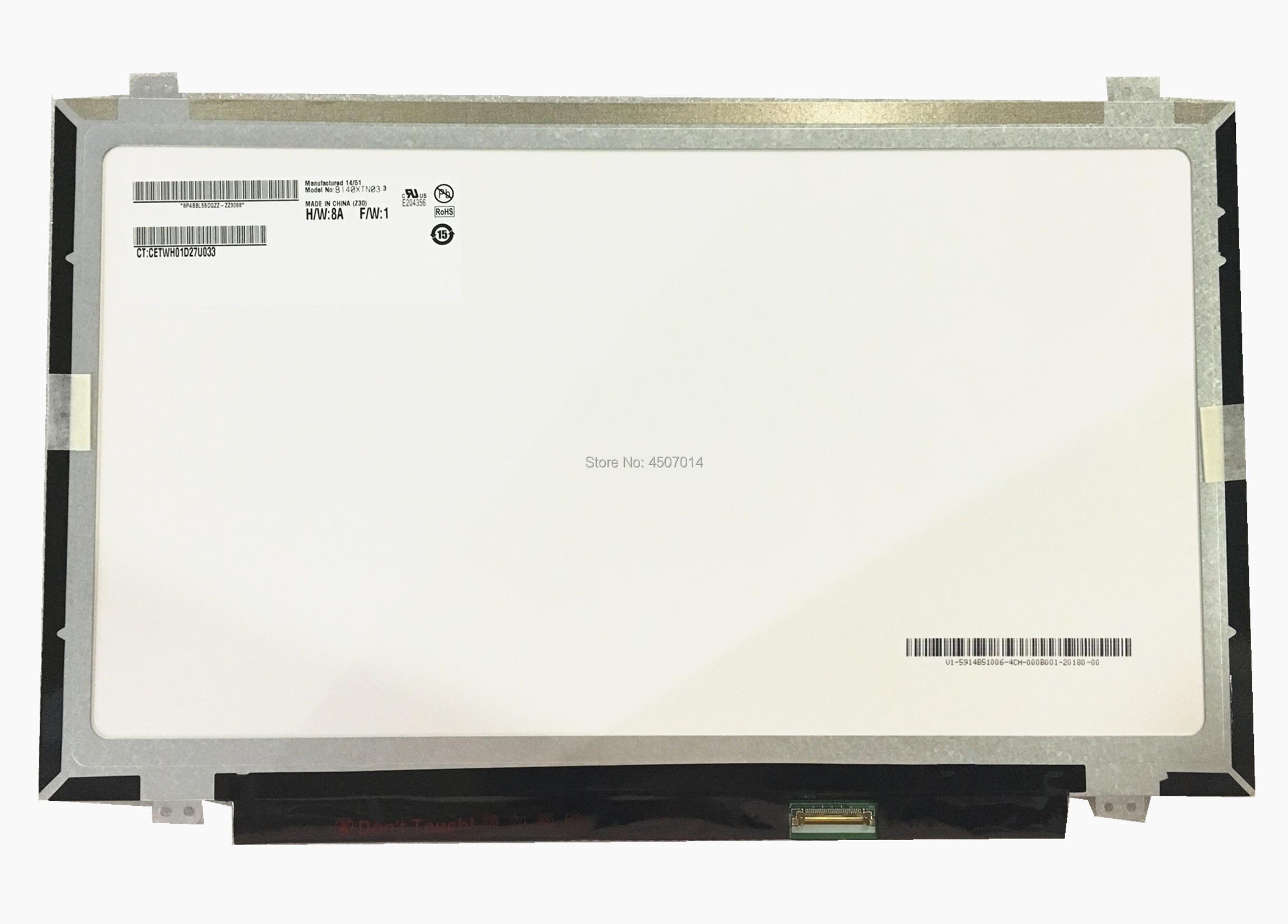 Livraison Gratuite B140XTN03.3 B140XTN03.2 B140XTN03.4 B140XTN03.9 N140BGE-EA3 N140BGE-EB3 N140BGE-E43 écran lcd d'ordinateur portable EDP 30PINS