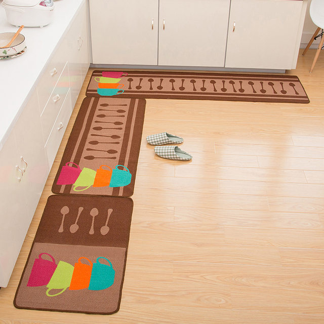 Online Shop Zeegle Kitchenware Printed Kitchen Rug Mats For The ...