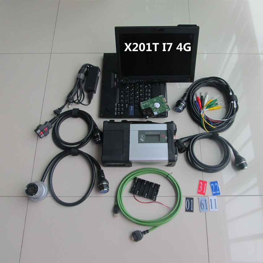 mb sd connect compact 5 STAR C5 with laptop x201t 4g i7 with software 2018.05 newest ready to use car and truck diagnostic super