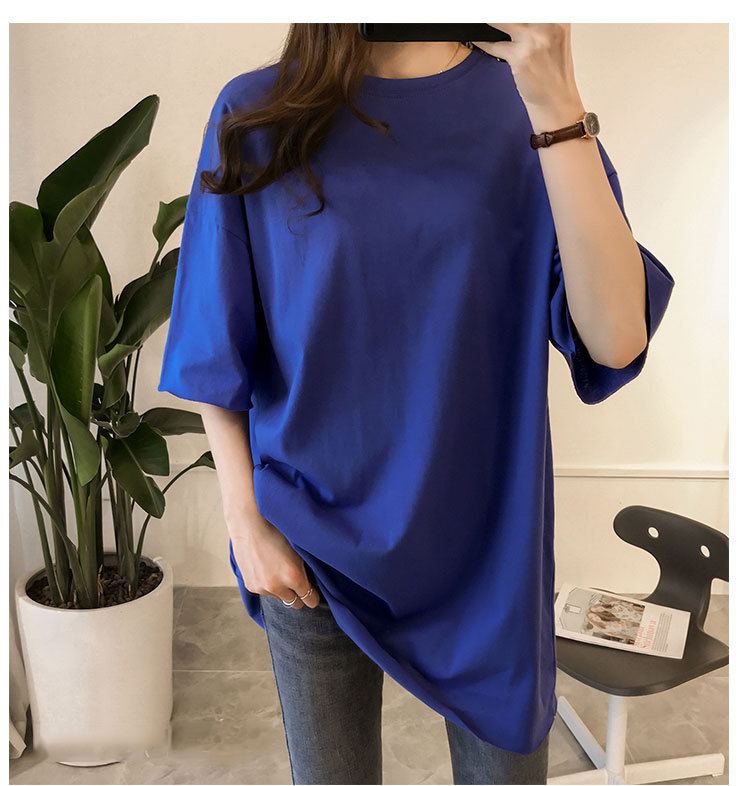 Candy Color Short Sleeve Loose T-Shirts Girls Summer 19 New Cool O-Neck Boyfriend Student Women T-Shirt Lady Tops Plus Size 16