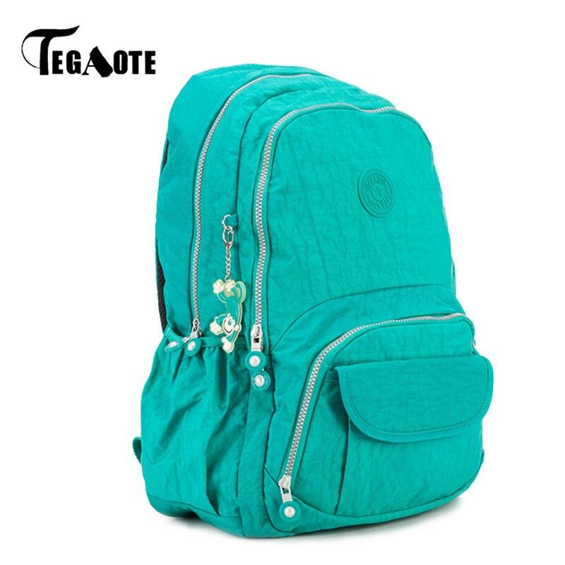 tegaote backpack female mochila feminina escolar nylon