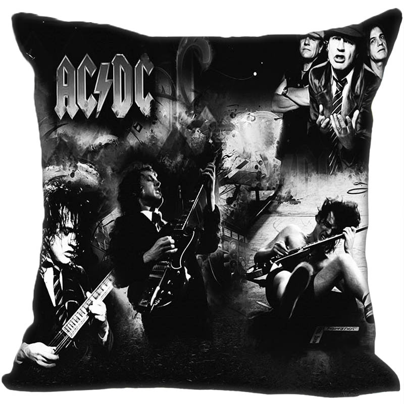 Custom Decorative Pillowcase Music Band Acdc Style Square Zippered Pillow Cover 35X35,40x40,45x45cm(One Side)180516-54