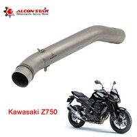 Alconstar 51mm Exhaust For Kawasaki Z 750 2007 2012 Motorcycle Exhaust Muffler Motorbike Middle Pipe Z750 Moto Exhaust Racing