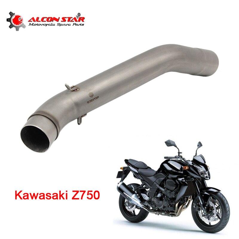 Alconstar Z750 font b Motorcycle b font Motorbike Middle Pipe font b Exhaust b font Muffler