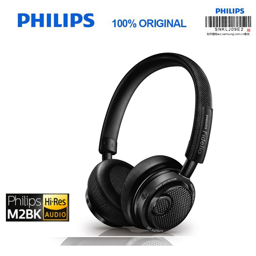 Philips Original M2BT/00 High Resolution Wireless Bluetooth Headset HIFI NFC Headset with Microphone Official Verification e 3lue ebt922 nfc bluetooth headset black