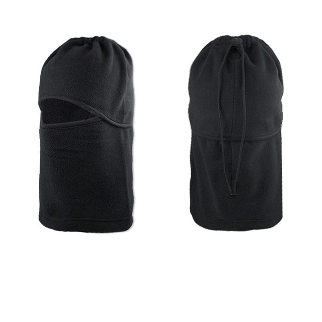 FORAUTO Black Balaclava Full Face Cover Cap Fleece Mask Windproof Hat Winter Stopper Motorcycle Face Mask 3