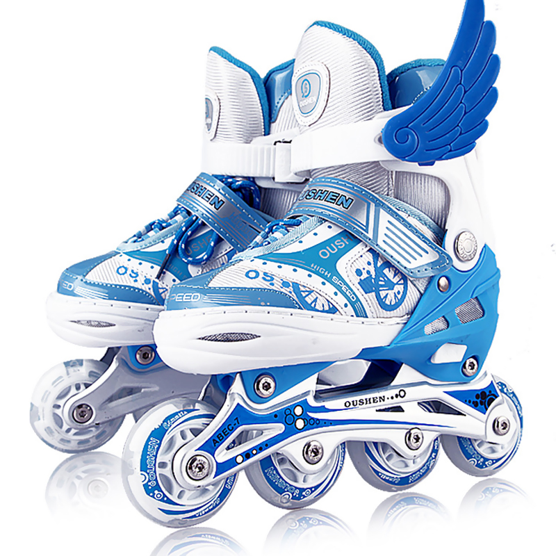 Full flashing roller skates for children,inline skates professional,FSK street slalom sliding adjustable quad Skates Shoes,IA51