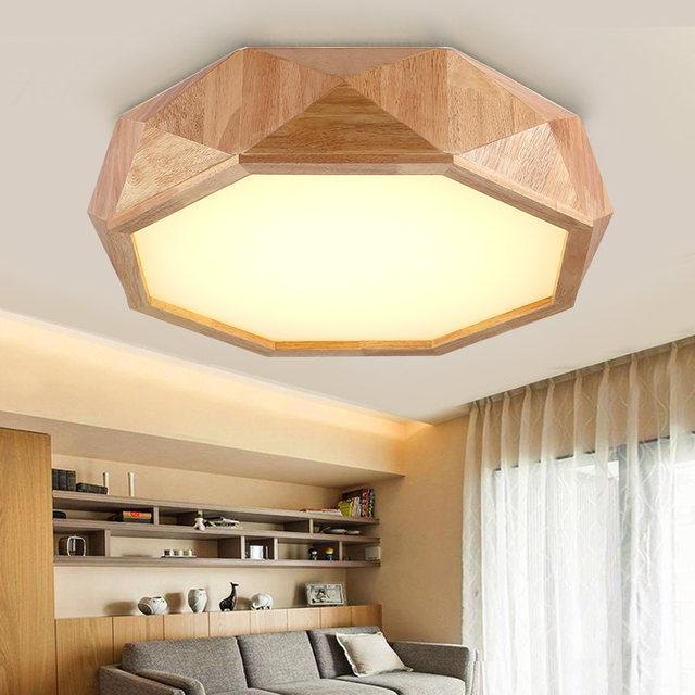 Online Shop LFH Moderne Houten LED Plafondlampen Creative Plafond ...