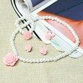 3 Colors Child Girls Elegant Jewerly Set Flower Imitation Pearl Necklace Bracelet Earrind Set Clip Ring 2016 New Design