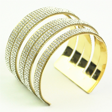 carter bangles cuff bracelets for women rhinestone metal bracelet pulseira feminina vintage bangle indian jewelry
