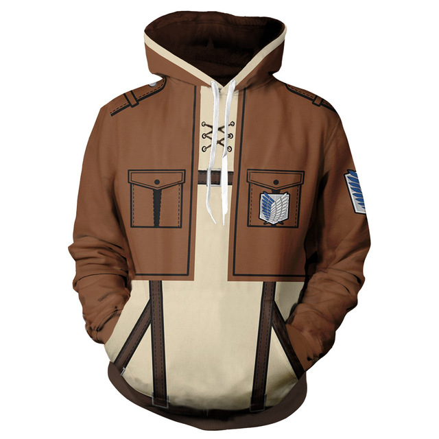 Anime Attack On Titan Levi Mikasa Eren Hoodie