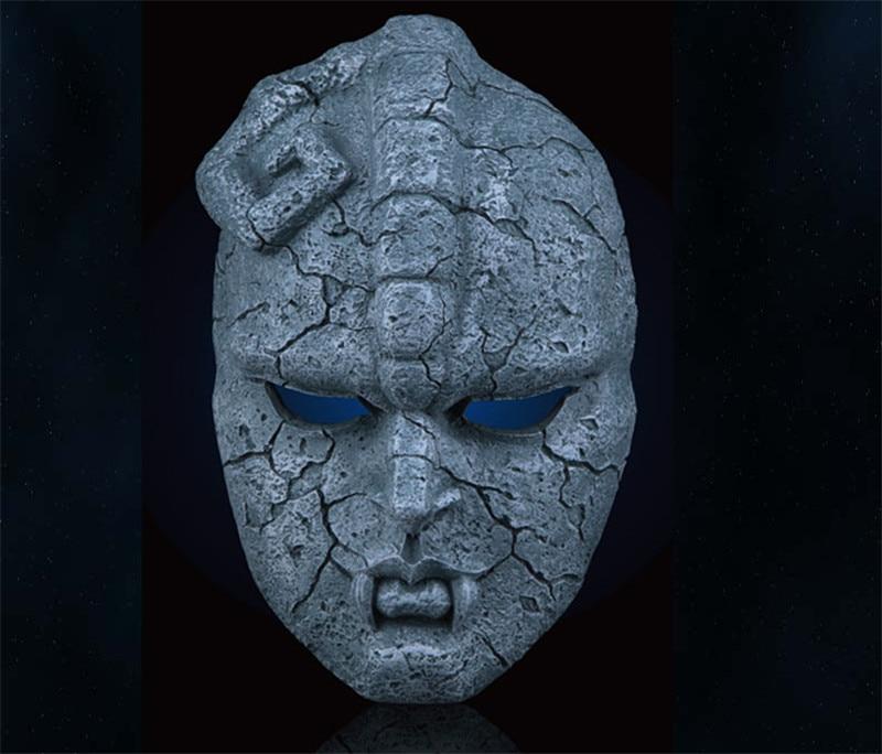 Anime Jojo Bizarre Adventure Mask Stone Statue Mask Medicos Ghost Mask Halloween Party Cosplay Horror Mask