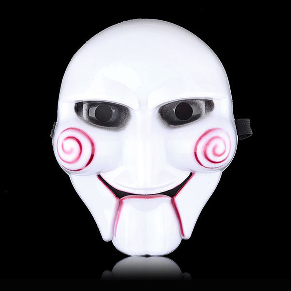 Unisex Saw Puppet Mask Horror Scary For Halloween Cosplay Costume ...