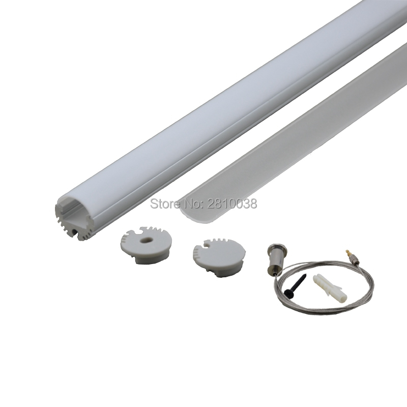10 X 0.5m Sets/lot Round Type Anodised Alu Lichtleiste Led And Al6063 Led Band Aluprofil For Pendant Or Ceiling Lights Lights & Lighting