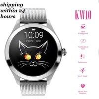 KW10 Smart Watch Women 2019 IP68 Waterproof Heart Rate Monitoring Bluetooth For Android IOS Fitness Bracelet Smartwatch PK KW18