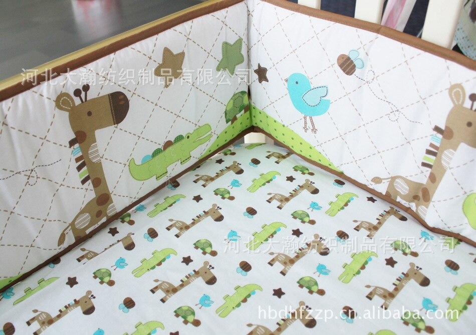 giraffe-bee-alligator-star-pattern-baby-bedding-set-100-cotton-crib-bedding -set-3-items-baby
