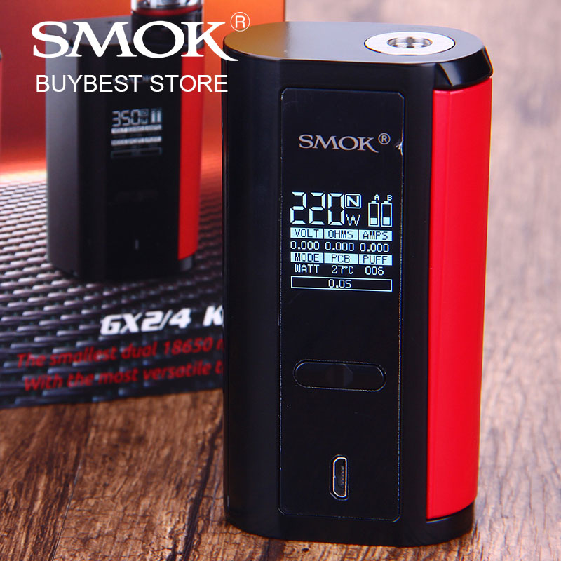 Original SMOK GX2/4 TC MOD 2 Type 350W or 220W Box MOD power by 4x/2x 18650 Battery Electronic Cigarette vs Drag 2/ shogun/ luxe