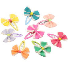 Multi color Kids Bow Tie BB Hairpins Girls Bowknot Hair Clip Headwear Accessories for Princess Childrens Barrettes Hairgrip