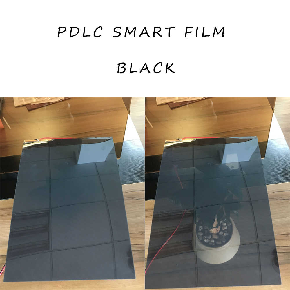 Switchable Privacy Film Smart Glass Window Blind Shade PDLC Black A4 Size 29.7cm x 21cm