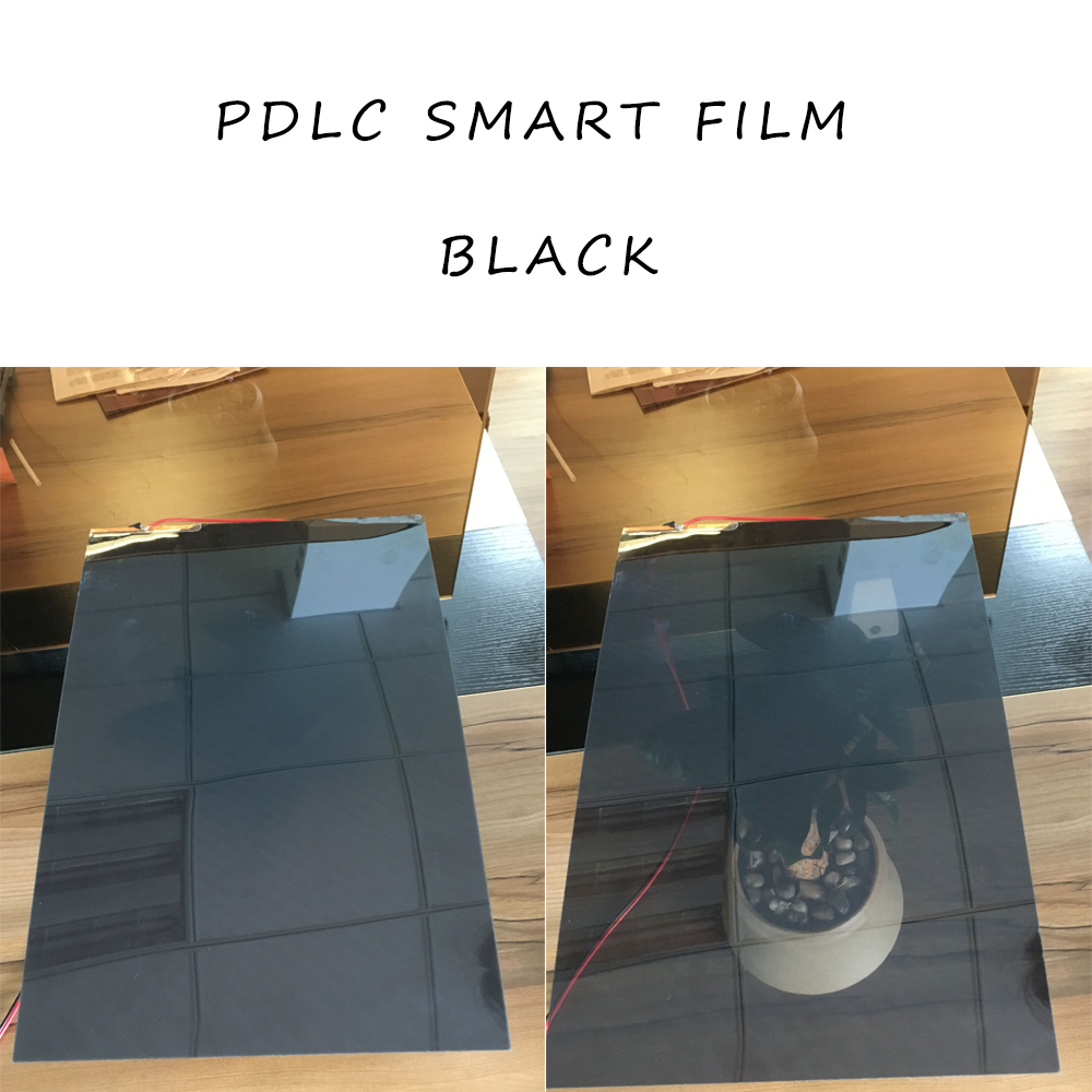 Film de confidentialité commutable verre intelligent fenêtre store ombre PDLC noir A4 taille 29.7 cm x 21 cm