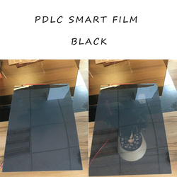 Película de privacidad conmutable Pantalla de persiana de vidrio inteligente PDLC negro tamaño A4 29,7 cm x 21cm
