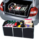 Auto Car Accessories Organizer Non-Woven Folding Black Trunk Toys Truck Food Container Cargo Container New Styling Car Box