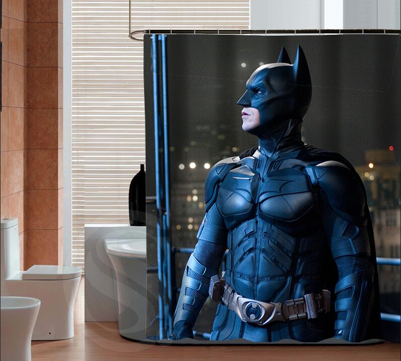 Best Gift Batman Custom Shower Curtain Fabric Bath Curtain