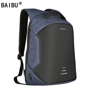 Image 1 - BAIBU yeni sırt çantaları erkekler USB şarj dizüstü anti hırsızlık sırt çantası moda tasarım sırt çantası rahat Mochila rahat seyahat çantası erkek