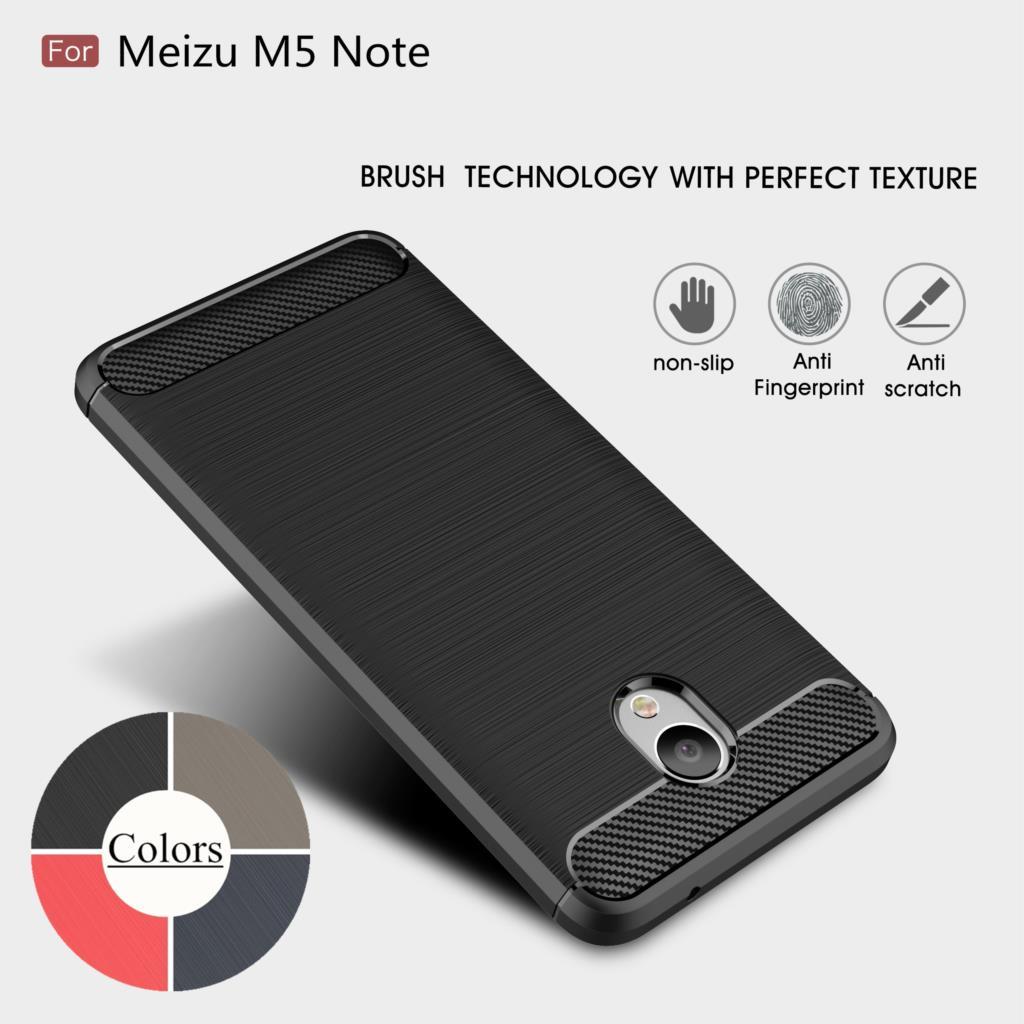 "Case for Meizu M5 Note 5.5"" TPU Silicone Case Ultra-thin Soft Cover Matte Feel Phone Case Rugged Armor"