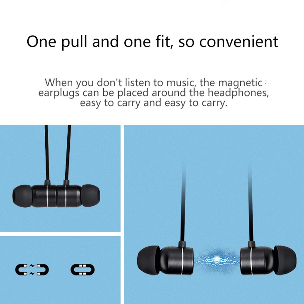 Neck mounted Earphone Sports Wireless Magnetic Bluetooth 4 1 Headset Running Bass Hifi Headphones Music New Headphones in Bluetooth Earphones Headphones from Consumer Electronics