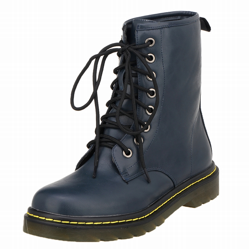 Loslandifen High Quality Dr PU Leather Martins Boots Women Gothic Motorcycle Boots цена