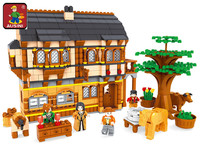 AUSINI 28002 Ausini Medieval Happy Farm Building Blocks Sets 838 Pcs Educational Construction Brick Toys for Children