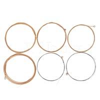 6pcs Metal Guitar Strings Fret Wire A011 For Acoustic Guitar Golden