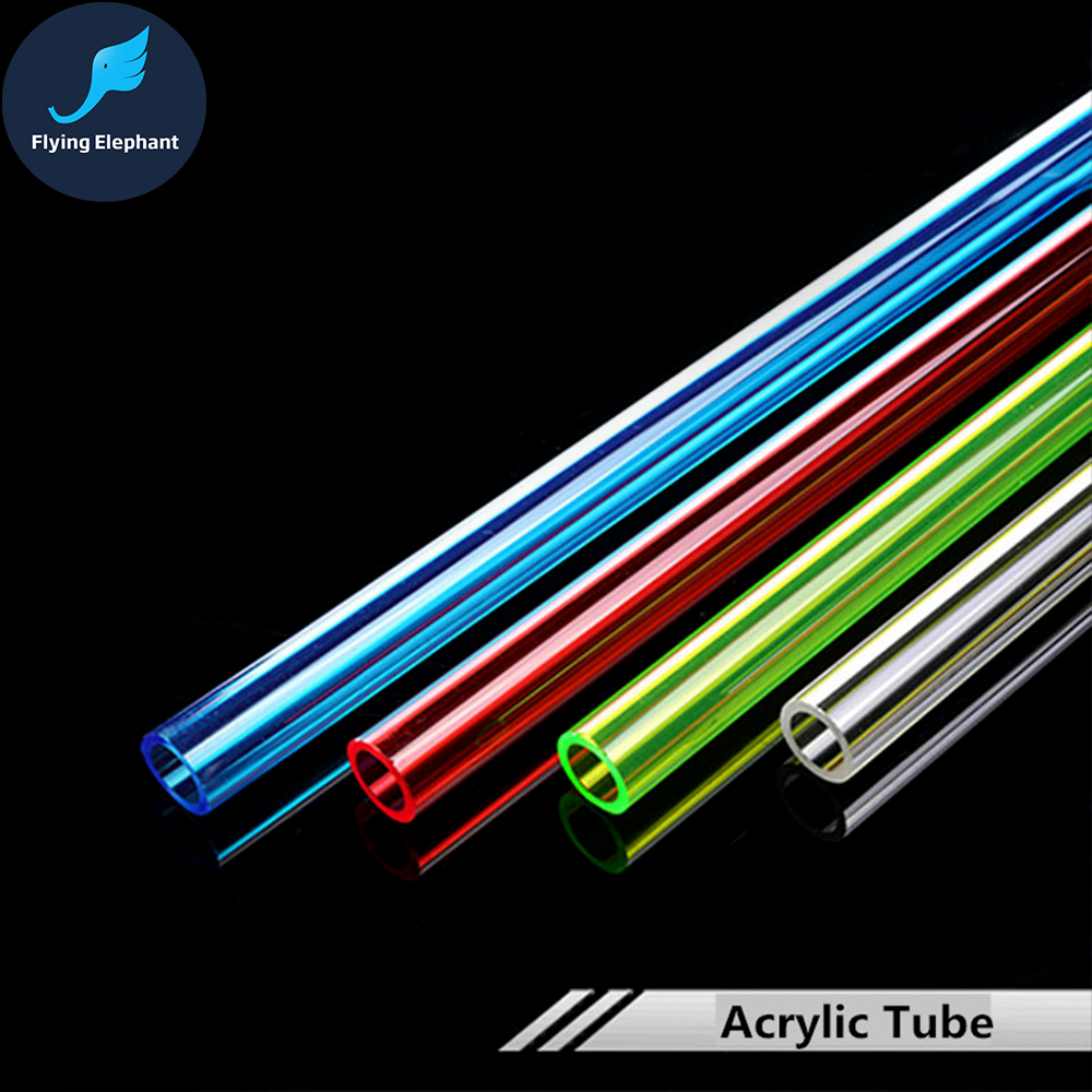 OD14MM Acrylic Tube Transparent  Water-cooled Rigid Tube Length Red Blue Green 50CM