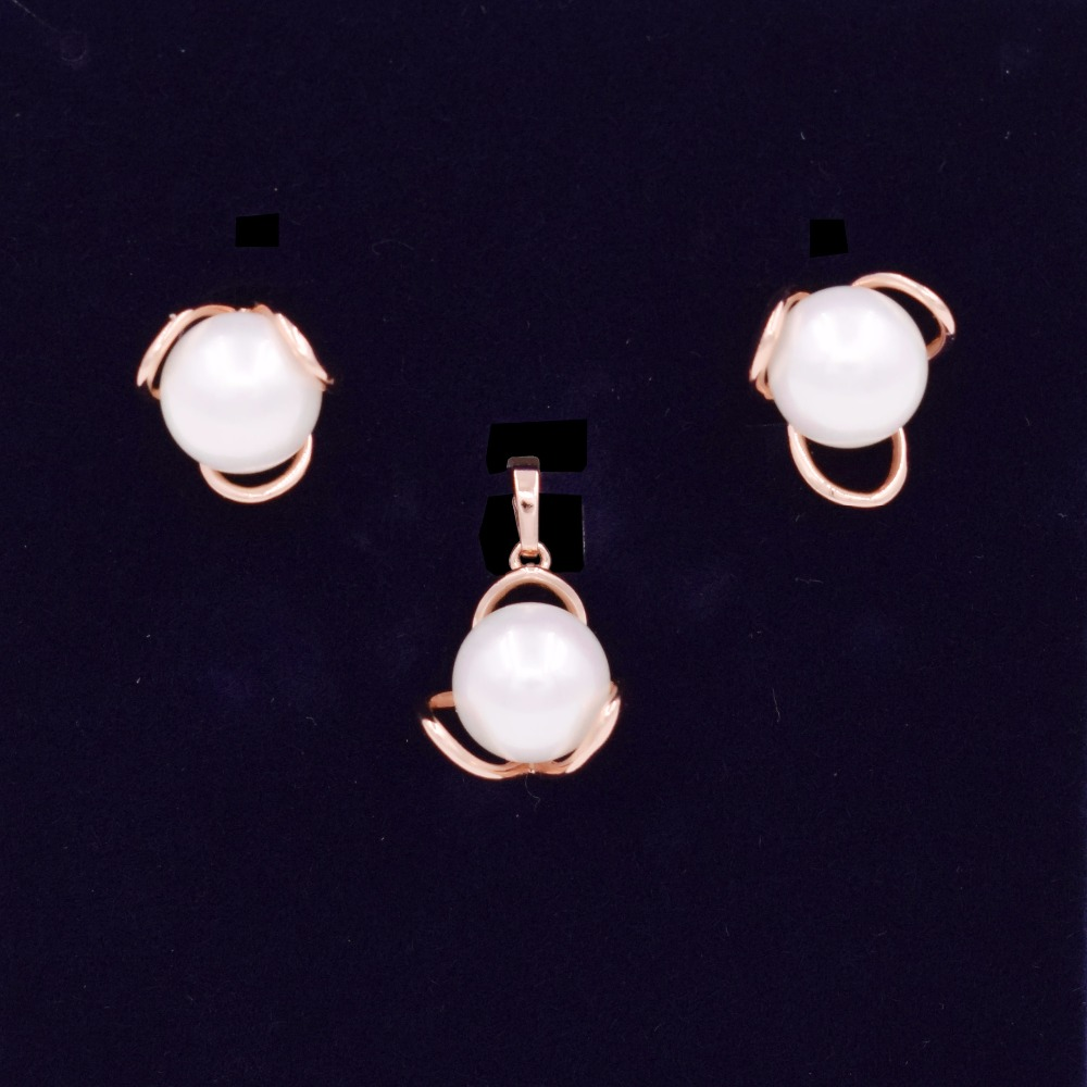Аутентичные 100% стерлингового серебра 925 Игристые Любовь Узел ткань Ювелирные наборы и многое другое с жемчугом Ювелирные изделия стерлинго...
